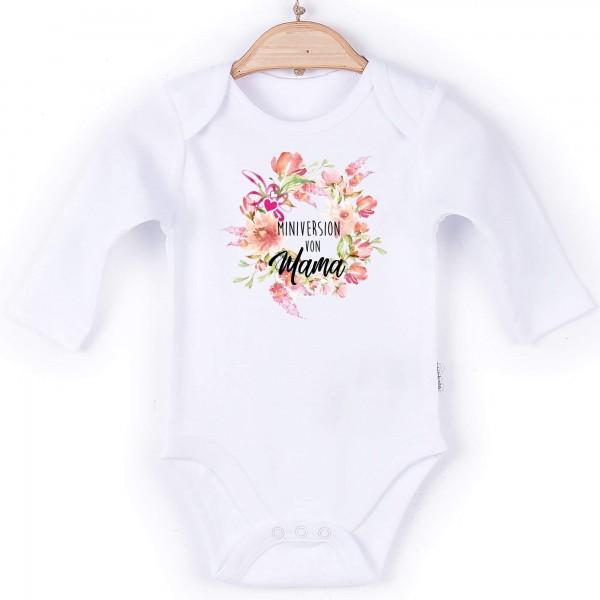 Baby Body Langarm weiß Muttertag Edition