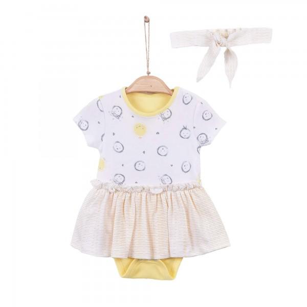 Kitikate Baby Body Yellow mit Haarband