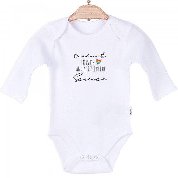 Baby Body langarm weiß Made with