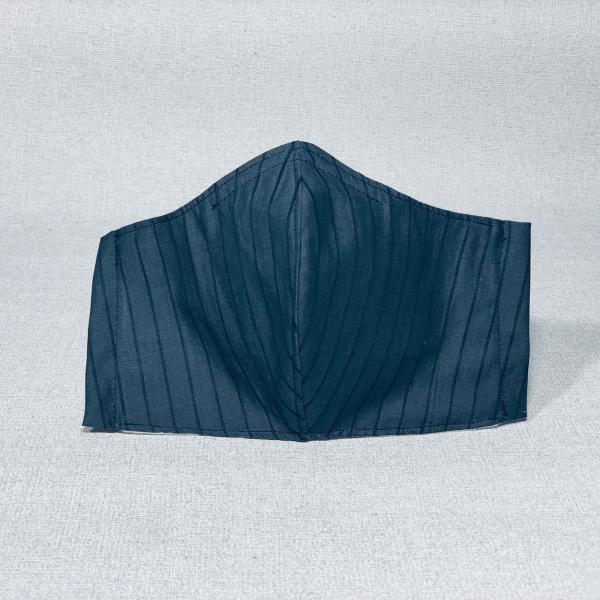 Stoffmaske grau gestreift