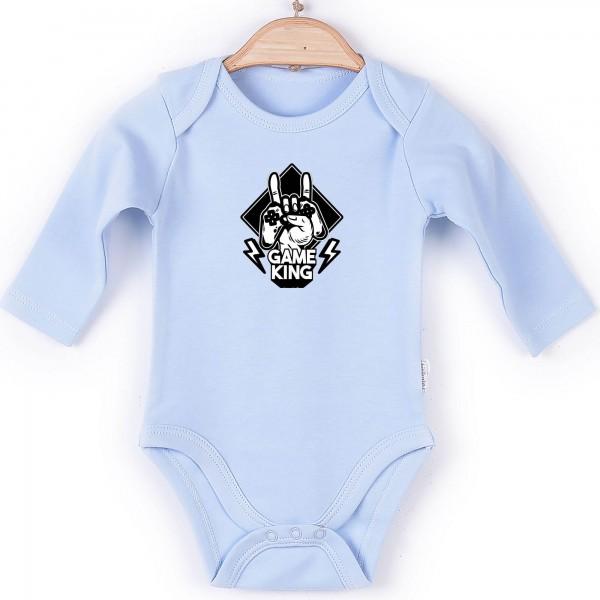 Baby Body langarm blau Gamer King