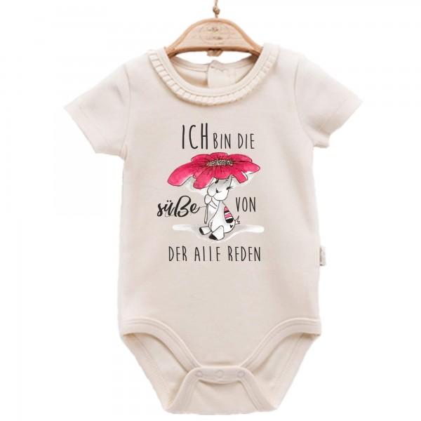 Baby Body kurzarm elegant Spruch die Süße