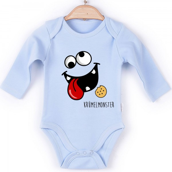 Baby Body Langarm blau Krümelmonster