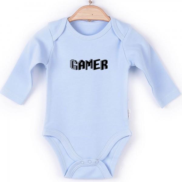 Baby Body langarm blau Gamer