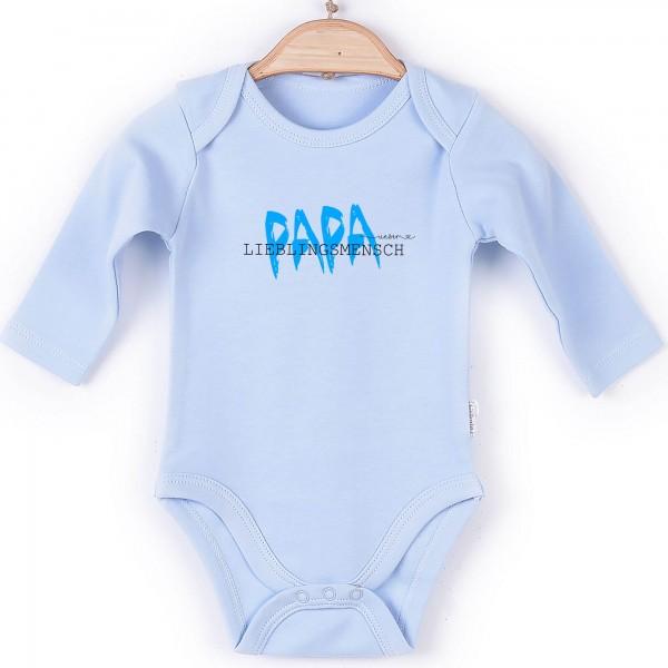 Baby Body Langarm blau Vatertag Edition