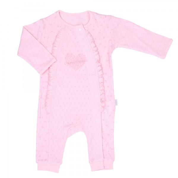 Kitikate Schlafanzug/Schlafstrampler rosa mit Rüschchen