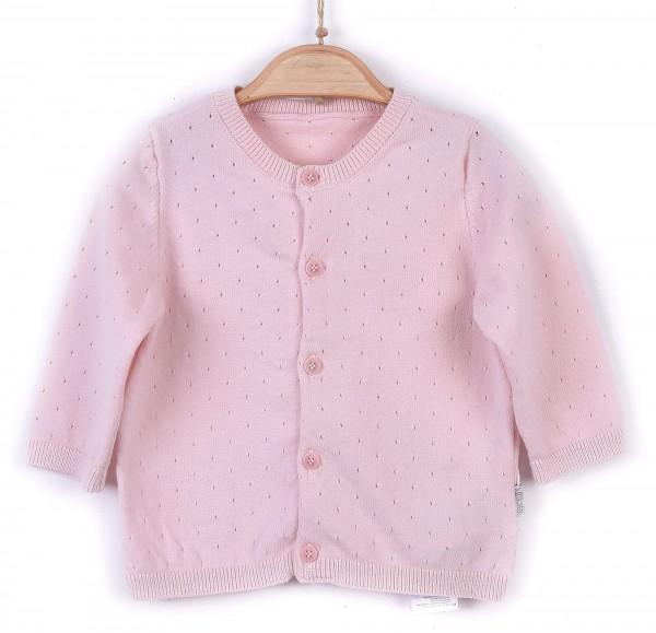 Kitikate Strickjacke Mädchen rosa sehr feiner Strick mit Punkten