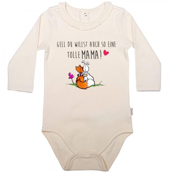 Baby Body Langarm elegant Fuchs tolle Mama