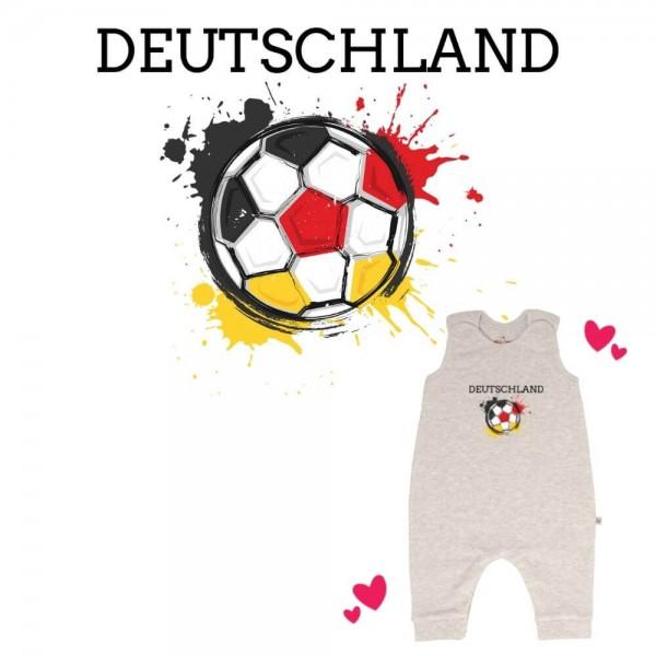 Strampler grau ohne Füße Deutschland Ball