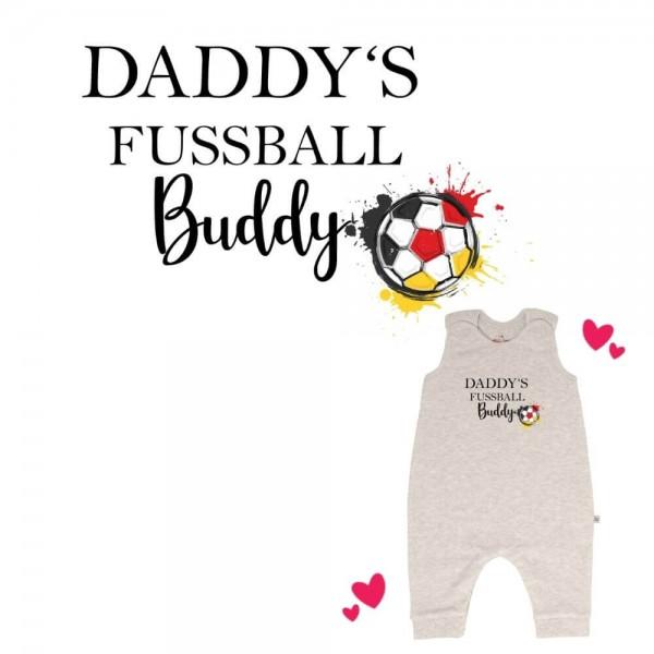 Strampler grau ohne Füße Daddys Fussball Buddy Deutschland