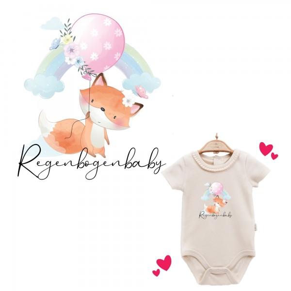 Baby Body kurzarm elegant Regenbogenbaby