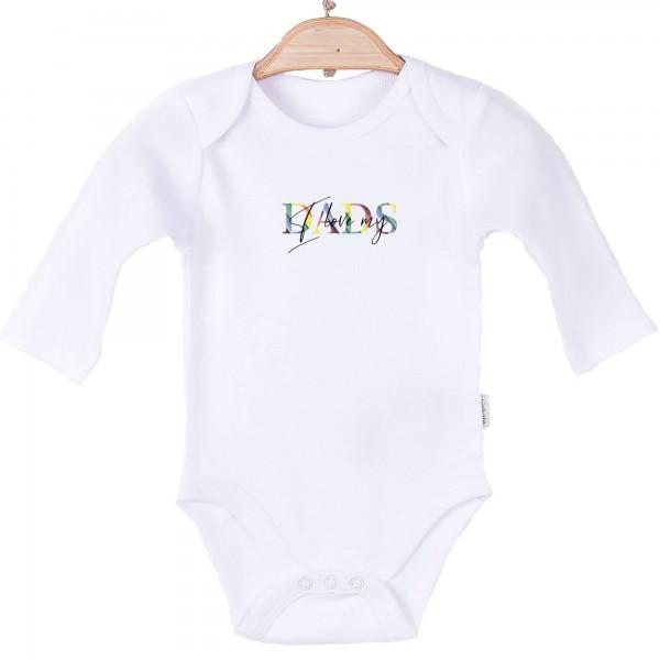 Baby Body langarm weiß Dads