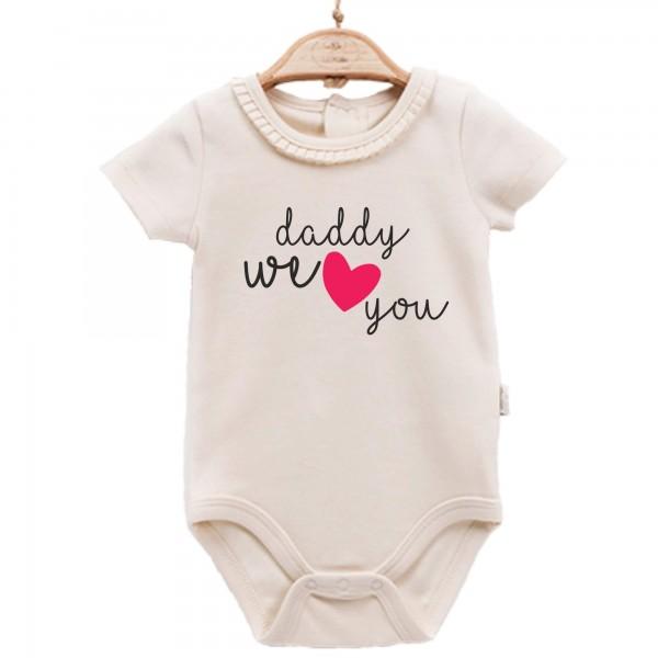 Baby Body kurzarm elegant Daddy we love you
