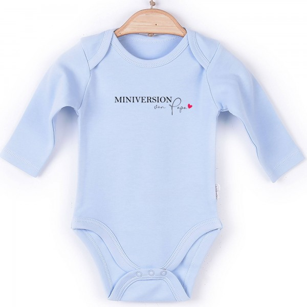 Baby Body langarm blau Miniversion