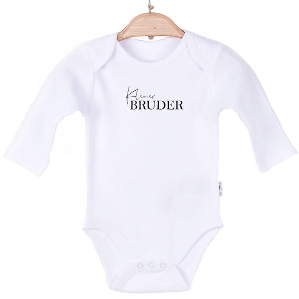 Baby Body Langarm weiß kleiner Bruder