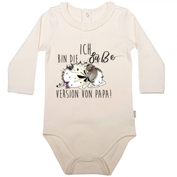 Baby Body Langarm elegant Prinzessin süße Version Papa