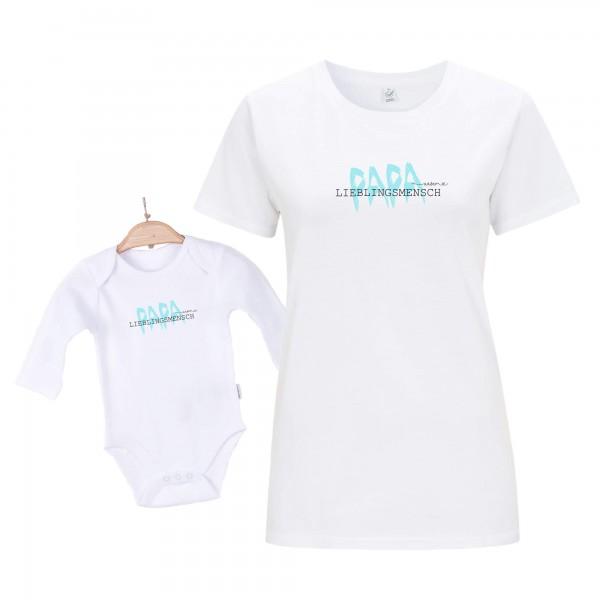 Baby Body Langarm weiß Vatertag Edition 2er Set